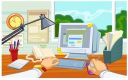Arbeitsplatz im Büro vektor abbildung