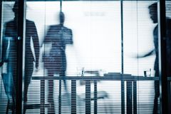 Arbeitsplatz im Büro Stockfotos