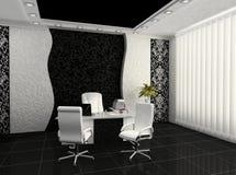 Arbeitsplatz im modernen Büroinnenraum Stockfotos