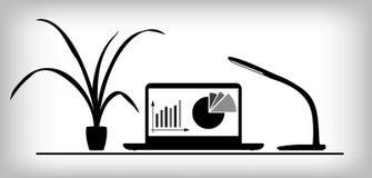 Arbeitsplatz infographics Stockfoto