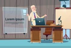 Arbeitsplatz-Krankenhaus-Medizin-Sorgfalt Doktor-Professor Office Clinic Interior Lizenzfreie Stockbilder