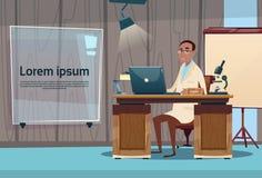 Arbeitsplatz-Krankenhaus-Medizin-Sorgfalt Doktor-Professor Office Clinic Interior Stockfotos