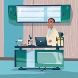 Arbeitsplatz-Krankenhaus-Medizin-Sorgfalt Doktor-Professor Office Clinic Interior Lizenzfreies Stockfoto