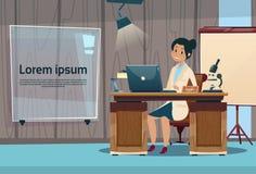 ARBEITSPLATZ-Krankenhaus-Medizin-Sorgfalt Doktor-Woman Office Clinic Innen Lizenzfreies Stockbild
