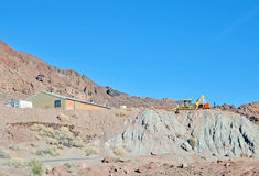 Arbeitsplatz: Kupfermine Lizenzfreie Stockfotografie