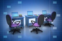 Arbeitsplatz mit Computer Stockfoto