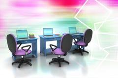 Arbeitsplatz mit Computer Stockfotografie