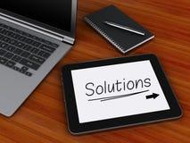 Arbeitsplatz mit digitaler Tablette, Laptop-PC und Notizblock mit Stift Lizenzfreie Stockbilder