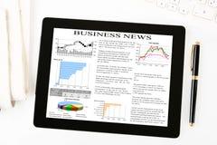 Arbeitsplatz mit leerer digitaler Tablette Lizenzfreies Stockfoto