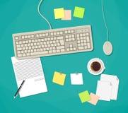 Arbeitsplatz mit Tastatur Lizenzfreie Stockfotos