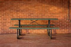 Arbeitsplatz-Picknick-Tabelle Stockbild