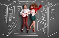Arbeitsplatz Romance Stockfotografie