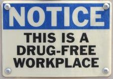 Arbeitsplatz-WARNING Lizenzfreie Stockfotografie