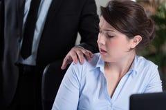 Arbeitsplatzbelästigung lizenzfreies stockbild