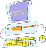 Arbeitsplatzrechner Lizenzfreies Stockfoto
