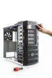 Arbeitsplatzrechner-Computerkasten Stockbild