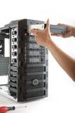 Arbeitsplatzrechner-Computerkasten Lizenzfreies Stockfoto