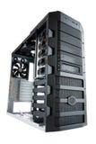 Arbeitsplatzrechner-Computerkasten getrennt auf Weiß Lizenzfreie Stockbilder