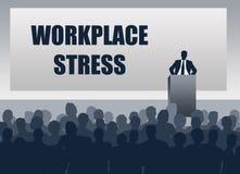 Arbeitsplatzstressbewältigungsdiskussion lizenzfreie abbildung