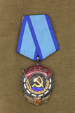 Arbeitspreise der UDSSR-` roten Fahne von Arbeits-` Stockfoto