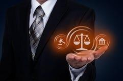 Arbeitsrecht-Rechtsanwalt-Legal Business Internet-Technologie-Konzept lizenzfreies stockfoto