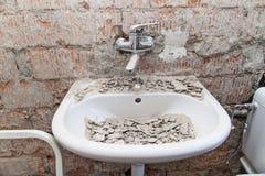 Arbeitsstellenbadezimmer Stockfotos
