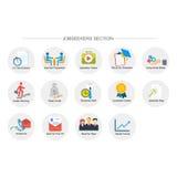 Arbeitssuchendeabschnitt-Ikonensatz Lizenzfreies Stockfoto
