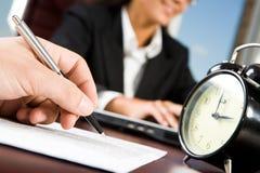 Arbeitszeit Lizenzfreies Stockfoto