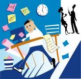 Arbeitszeit stock abbildung