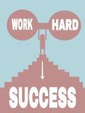 Arbeitung schwer = succes Stockbilder