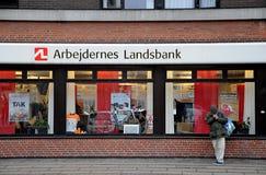 ARBEJDENERS LANDBAK. Copenhagen / Denmark_  02 .February  2017 -   Arbejdernes Landsbank franch on amagerbrogade.   Photo. Francis Joseph Dean/Deanpictures Stock Photos