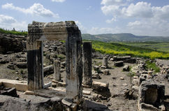 Arbel ancient synagogue Stock Images