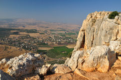 Arbel cliff. View from Arbel cliff. Israel Royalty Free Stock Photos