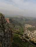 Arbel cliff view. Aerial view from the top of Arbel cliff Royalty Free Stock Image