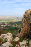 Arbel mountain, Israel. View of Arbel mountain in the Galilee, Israel Stock Image