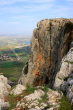 Arbel mountain, Israel. View of Arbel mountain in the Galilee, Israel Royalty Free Stock Photography
