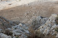 Arbel Nature Reserve And National Park. Israel Stock Images