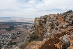 Arbel Nature Reserve And National Park. Israel Stock Photo