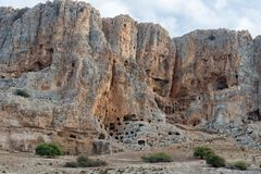 Arbel Nature Reserve And National Park. Caves at Arbel Nature Reserve And National Park, Israel Royalty Free Stock Photos