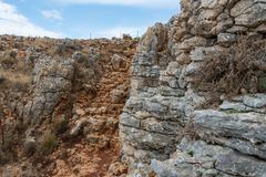 Arbel Nature Reserve And National Park. Israel Royalty Free Stock Photography