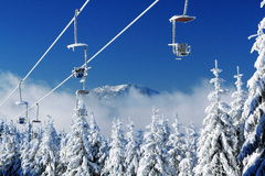 Arber, χειμώνας Lanscape, Šumava βουνά, Eisenstein Στοκ φωτογραφία με δικαίωμα ελεύθερης χρήσης