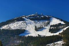 Arber, Winter landscape around Bayerisch Eisenstein, ski resort, Bohemian Forest (Åumava), Germany Royalty Free Stock Photos