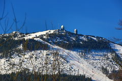 Arber, Winter landscape around Bayerisch Eisenstein, ski resort, Bohemian Forest (Šumava), Germany Royalty Free Stock Photo