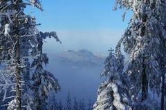 Arber, Winter Lanscape, Šumava Mountains, Eisenstein, Czech Republic, Germany Stock Photography