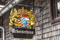Arberseehaus. On the Arber mountain in the Bavarian Forest Germany Stock Images
