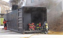 Arbeta för brandmän arkivfoto