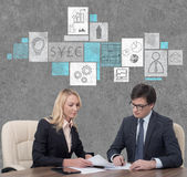 Arbeta för Businesspeople Arkivbilder