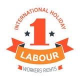 Arbeta för symbolsarbetare för dagen isolerad ferie för våren för beröm för rätter stock illustrationer