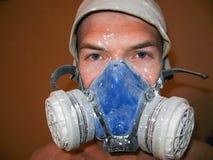 Arbeta i en respirator Närbild Royaltyfria Foton