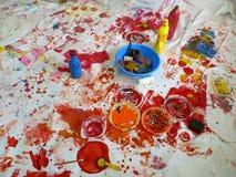 Arbeta i seminariet av en enkel konstnär Royaltyfria Bilder